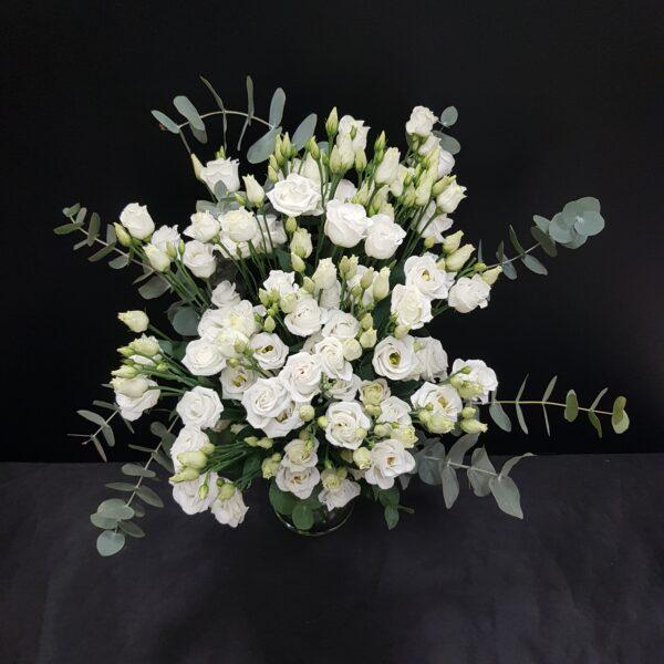 lisianthus blanco 15 tallos