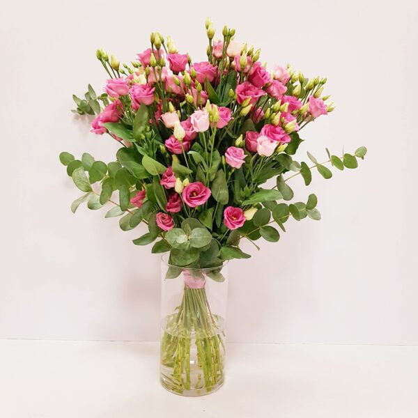 lisianthus rosa 15 tallos