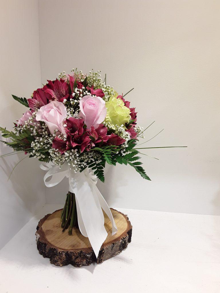 Ramo novia rosas y astromelia
