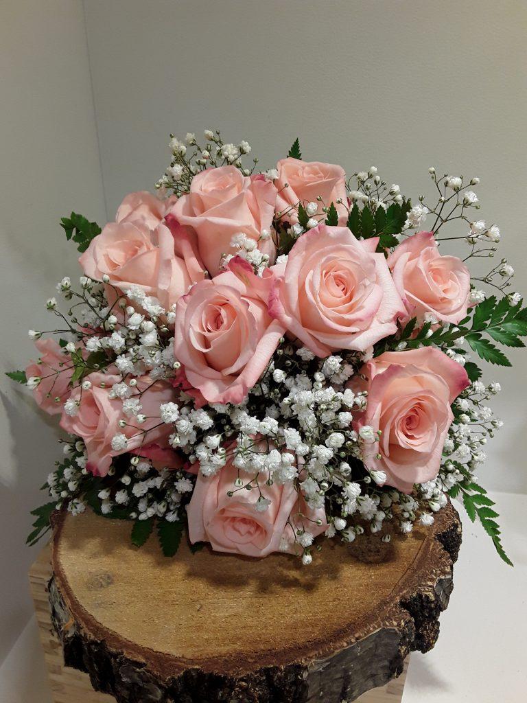 Ramo novia rosas color salmon