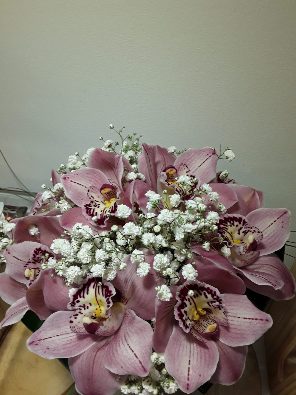 Ramo novia orquideas (cimbidium)