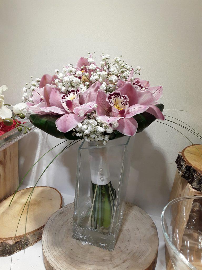 Ramo novia con orquideas cimbidium