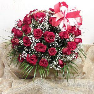Cesta 50 rosas