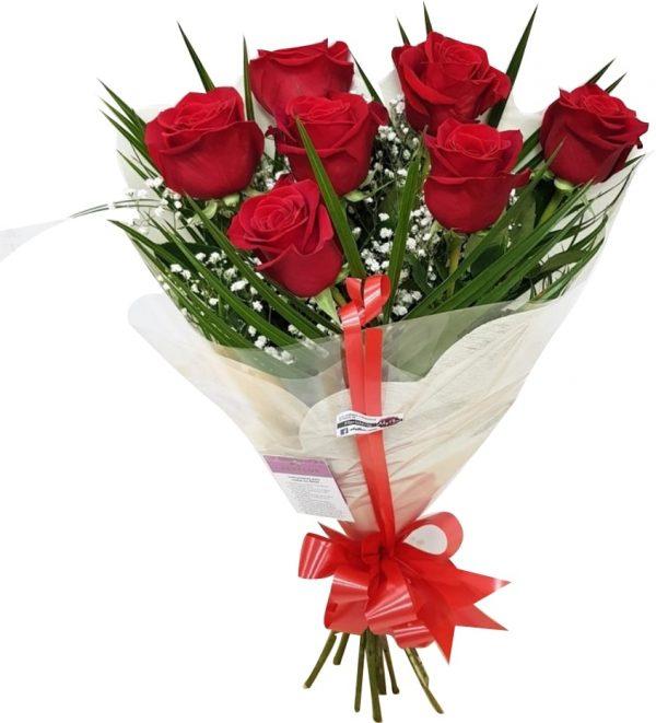 7 Rosas rojas