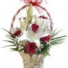 Cesta rosas y lilium