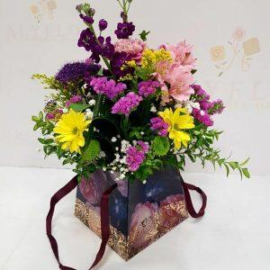 flores variadas coloridas