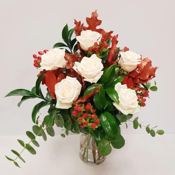 Rosas blancas  otoñales